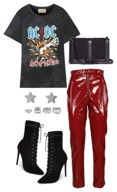 """""""Untitled #5616"""" by lilaclynn ❤ liked on Polyvore featuring Gucci, MSGM, Steve Madden, Rebecca Minkoff, Forever 21, rebeccaminkoff, forever21, SteveMadden and gucci"""
