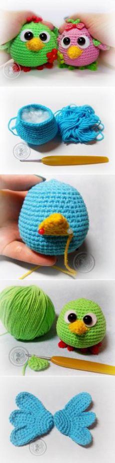 Мастер класс по созданию позитивных птенчиков - МК по вязанию игрушек - Форум почитателей амигуруми (вязаной игрушки)