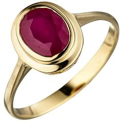 Real Oval Red Ruby 585 Yellow Gold Ring @ Jewellery Source by 585 Gold Ring, Gold Diamond Rings, Emerald Diamond, Yellow Gold Rings, Ruby Jewelry, Gemstone Jewelry, Gold Jewelry, Jewelry Rings, Vintage Jewelry