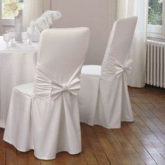 Dining Chairs Slipcovers No Sew - - - Black Dining Chairs With Cushions Dining Room Chair Covers, Dining Chair Slipcovers, Dining Room Chairs, Office Chairs, Wedding Chair Decorations, Wedding Chairs, Wedding Chair Covers, Decoration Evenementielle, Chair Sashes