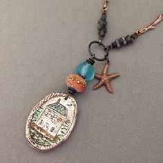 Love the farfalles glass bead from Stinky Dog Beads Sea Inspired Beads | Humblebeads