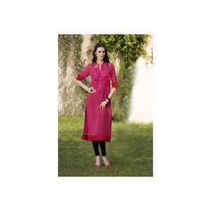 Viva N Diva Pink Color #Georgette #Kurti #onlineshopping http://goo.gl/UFY1ys