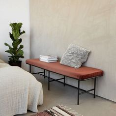 House Doctor Comma bench rust ✓Worldwide shipping ✓Shipped the same day ✓Fast delivery ✓Safe payment (SSL) day return policy House Doctor, My Living Room, Living Spaces, Room Interior, Living Room Designs, Shelving, Furniture Design, Sweet Home, Entryway