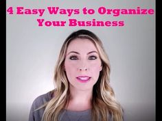 4 Easy Ways to Organize your Business!  Here are some of my hacks for small business owners, direct sales, network marketing, etc.