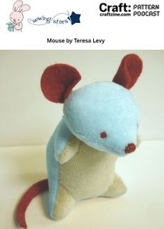 Patternpodcast Mouse  Free Pattern for cute little plush mouse