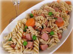 Hot dog pasta salad www.menu-ideas.com