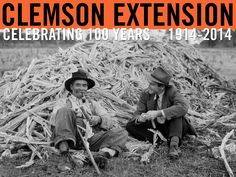 Assistant county agent Bowen talking to farmer in Sumter county. Image from Clemson University Special Collections. #ClemsonExt100