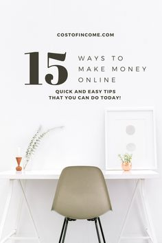 In this post I will share 15 ways how to make money from home, make money online, ways to make money from home make money fast and much more! #makemoney #online #onlinemoney #moneyfromhome How To Start A Blog, How To Get, How To Plan, Home Staging, Way To Make Money, Make Money Online, Money Fast, Layout Design, Social Media Plattformen