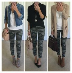 Camo jeans outfit ideas Camo jeans outfit ideas Kelly Outfits One thing I ve really tried to do Camo Jeans Outfit, Outfits With Camo Pants, Womens Jeans Outfits, Trouser Jeans Outfit, Black Camo Pants, Black Leggings Outfit Summer, Cute Jean Outfits, Cute Camo Outfits, Light Jeans Outfit