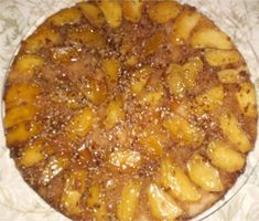 Apple Skillet Cake - This recipe is from Granny Jordan. Every bite is infused with apple/cinnamon goodness!
