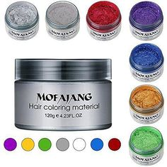 Cera Color Temporal Mofajang www. Wash Out Hair Color, Hair Color Cream, Curly Hair Styles, Natural Hair Styles, Avant Garde Hair, Temporary Hair Color, Pelo Afro, Hair Pomade, Hair Wax