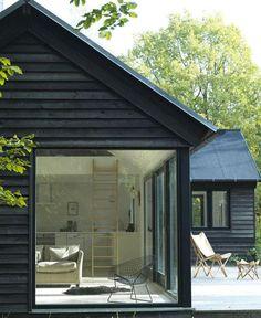 "670 Likes, 12 Comments - est (@est_living) on Instagram: ""ARCHITECTURE: Black modular Danish holiday homes by Mon Huset. Designed by Lykke + Nielsen I Photo…"""
