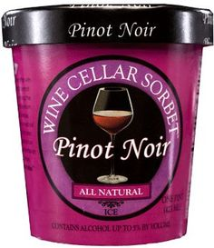 Wine flavored ice cream.... enough said! Got to try this!