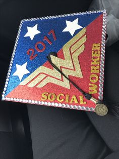 My daughters graduation mortar board cap from her APU graduation - Masters of Social Work. She did a great job, love it!