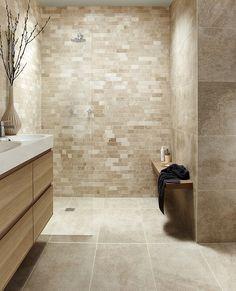 Tops Tiles Antalya Cream Irregular Linear Mosaic £12.59 a tile Size 30.6cm x 30.6 cm Code 041300