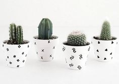 We're celebrating Earth Day with these DIY patterned mini plant pots for your succulents! Click to see how you can make them at home.