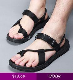 Sandals 2018, Flat Sandals, Leather Sandals, Men Sandals, Mens Flip Flops, Flip Flop Shoes, Summer Slippers, Summer Shoes, Roman Fashion