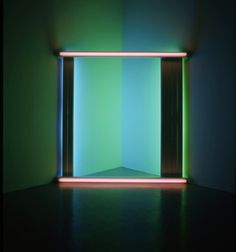 untitled instillation by Dan Flavin 1975
