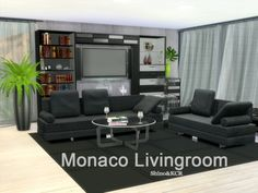 The Sims Resource: Monaco Livingroom by ShinoKCR • Sims 4 Downloads