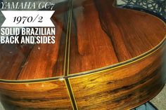 Excellent 1970/72 hand signed High end Yamaha GC7 Classical guitar with all solid wood construction and fabulous highly figured solid rosewood back and sides. Really beautiful guitar with a quality of woods that is simply just not obtainable anymore. Some small marks and scratches only on this but nothing to worry about. Comes with a very good hard case.   Ring George on 07808 782086 for any questions. Pick it up and pay cash on the day if you want. | eBay!