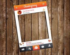 Thanksgiving photo booth prop DIGITAL FILE Printable by IRMdesgn