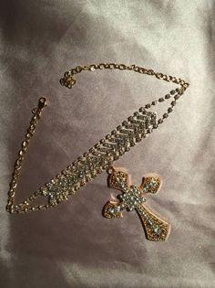 View all Jewelry - Necklaces, Bracelets, Earrings & Rings Rhinestone Choker, Gold Choker Necklace, Crystal Necklace, Beaded Necklace, Cross Choker, Cross Earrings, Fashion Necklace, Fashion Jewelry, Women Jewelry