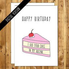 Imprimable Anniversaire Copain Naughty Par InANutshellStudio Birthday Cards