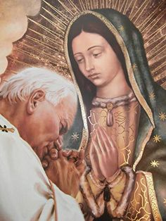 Blessed Mother Mary, Blessed Virgin Mary, Religious Icons, Religious Art, Papa Juan Pablo Ii, Images Of Mary, Mama Mary, Sainte Marie, Pope John Paul Ii
