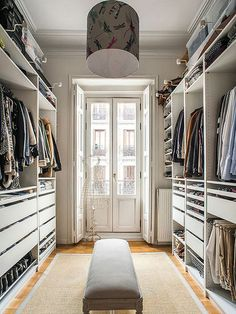 53 Elegant Closet Design Ideas For Your Home. Unique closet design ideas will definitely help you utilize your closet space appropriately. An ideal closet design is probably the only avenue . Walk In Closet Design, Bedroom Closet Design, Master Bedroom Closet, Master Suite, Walk In Closet Ikea, Shoe Closet, Walk Through Closet, Extra Bedroom, Closet Doors