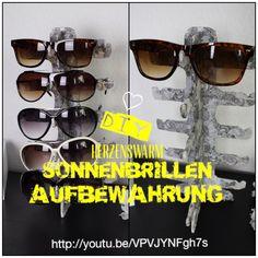 Sonnenbrillen Aufbewahrung :-) Sun Glasses DIY http://youtu.be/VPVJYNFgh7s