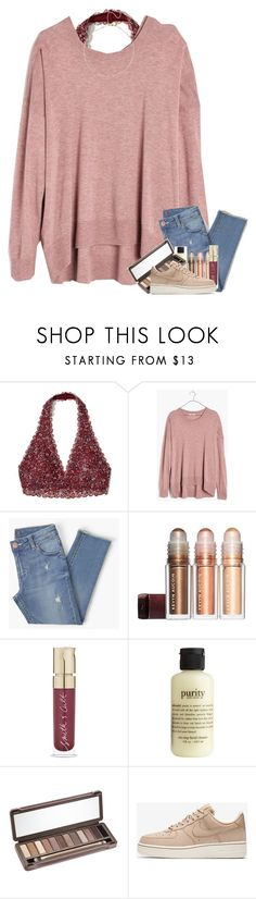 """my grandpa passed away this morning "" by classyandsassyabby ❤ liked on Polyvore featuring Hollister Co., Madewell, Smith & Cult, philosophy, Urban Decay and NIKE"