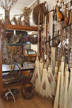 Witch Cupboard:  Organic Artist Tree Handcrafted #Brooms in Blue Ridge, Georgia, USA.