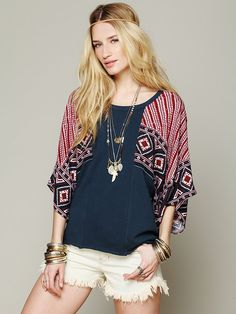 Free People Festival Sleeved Pullover at Free People Clothing Boutique