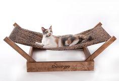"Sleepurrz Wooden Cat and Dog Hammock – 43x18x12"",cat furniture,discount cat…"