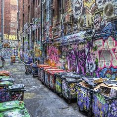 This is in Melbourne but reminiscent of the Graffitti in Queens, NY!