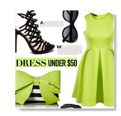 """""""Dress Under $50"""" by ajspragu02 ❤ liked on Polyvore featuring Betsey Johnson, Bling Jewelry and Dressunder50"""