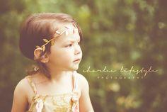 Gold Greek Goddess Hippie style Halo tie back by LittleSparrowBows, $10.00 #littlesparrowbows