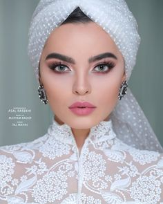 About the Persian Cat - Cat's Nine Lives Bridal Makeup Looks, Wedding Makeup Looks, Bride Makeup, Wedding Hair And Makeup, Muslim Wedding Gown, Muslimah Wedding Dress, Muslim Wedding Dresses, Beautiful Muslim Women, Beautiful Hijab
