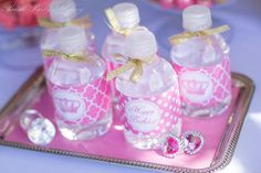 Drinks at a Pink Princess Party #pinkprincess #partydrinks