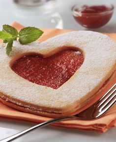 "Linzer Cookie #recipe. An easy way to say ""I love you"" this February 14!"
