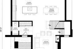 Plan de Maison Moderne Ë_140 | Leguë Architecture Sims House, Furniture Showroom, Best Investments, Architecture, House Plans, Floor Plans, How To Plan, Building, Design