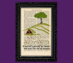 The Little Prince Nº5 Book Art Print - Le Petit Prince Gift Nursery Dictionary Art Poster Book Decor Dorm Room Gift Wall Exupéry Art