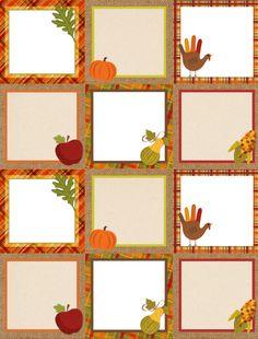 Free Printable Autumn/Thanksgiving Labels (675-labels-blank / World Label Blog)
