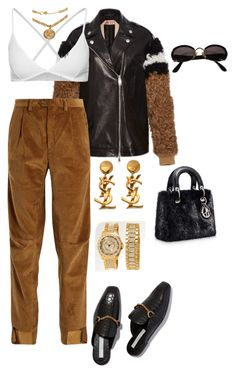 """""""Untitled #4150"""" by mollface ❤ liked on Polyvore featuring N°21, Vetements, American Apparel, Yves Saint Laurent, Courrèges and Versace"""