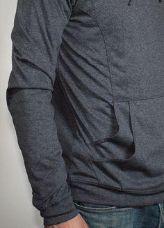 double layer kangaroo hoodie pocket