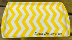 Chevron Tray - made from old cookie sheet.