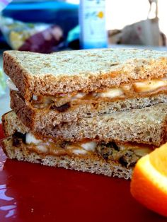 Camping food-- Peanut Butter Banana Sandwich. Our favorite and super easy to pack and carry on a long trip. Great food for a long hike