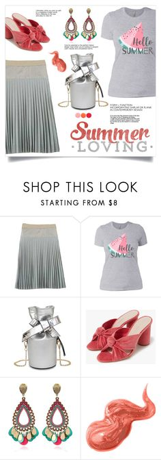 """""""Bottoms Up: Happy Hour"""" by mahafromkailash ❤ liked on Polyvore featuring Marc Jacobs, Loeffler Randall, Bobbi Brown Cosmetics and Deborah Lippmann"""