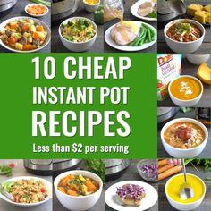 Healthy Recipes On A Budget, Healthy Recipe Videos, Healthy Dinner Recipes, Soup Recipes, Cheap Healthy Meal Plan, Smoothie Recipes, Easy Recipes, Cheap Healthy Dinners, Cheap Easy Meals