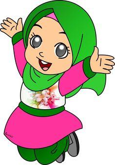 Happy Girls, Cute Girls, Hijab Barbie, Fest Des Fastenbrechens, Doodle Girl, Islamic Cartoon, Girl Couple, Flower Phone Wallpaper, Islamic Art